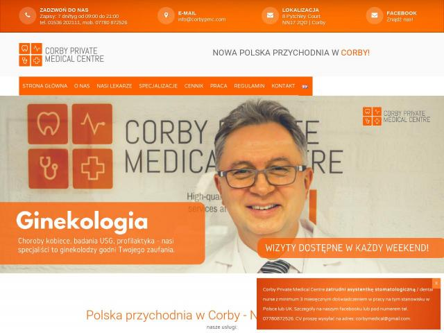 Coventry - polska przychodnia Corby Private Medical Centre